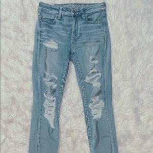 American eagle hi-rise jeans